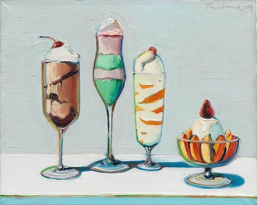 Wayne Thiebaud, Confettis, oil on canvas, 1962, San Francisco Museum of Modern Art